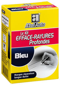 Kit efface rayures profondes couleur bleu - AbelAuto