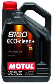 Huile moteur 8100 eco clean+ 5w30 norme c1 5l - motul