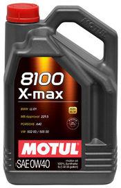 Huile 0w40 8100 x-max motul 5 litres  - motul