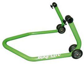 Bequille arriere universelle verte livree avec supports caoutchouc