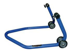 Bequille arriere universelle bleue livree avec supports caoutchouc