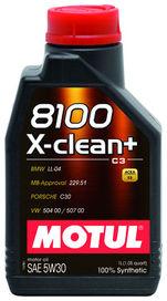 Huile 5w30 8100 x-clean+ motul 1 litre - motul