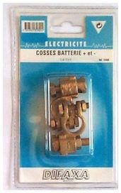 Cosses de batterie en laiton ( + / - )   - difaxa