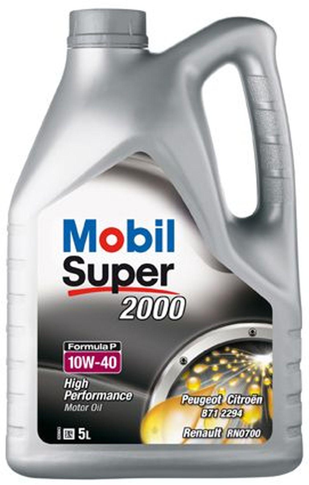Huile moteur mobil super 2000 formula p 10w40 151095 5 litres - mobil