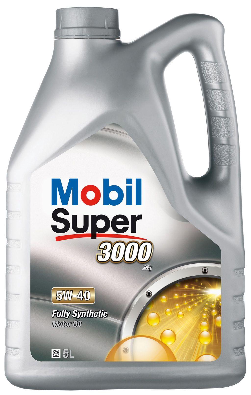 Huile moteur mobil super 3000 5w40 151166 5 litres - mobil