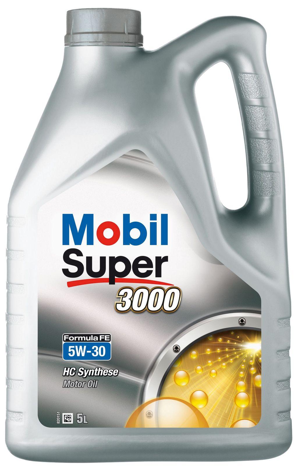 Huile moteur mobil super 3000 fe 5w30 151176 5 litres - mobil