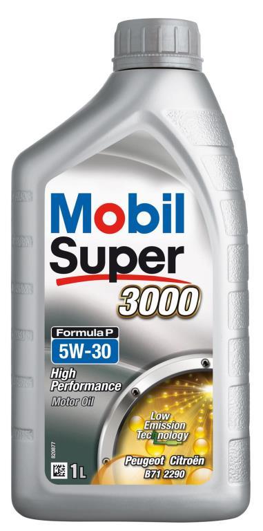 Huile moteur mobil super 3000 5w30 formula-p 1 litre 151196 - mobil