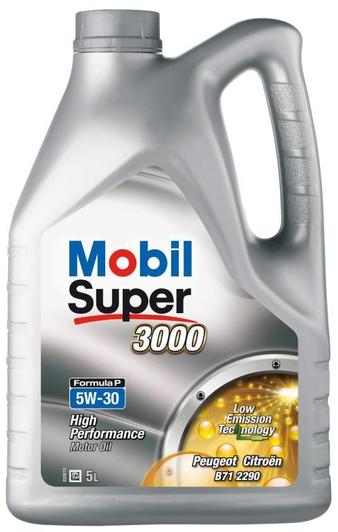 Huile moteur mobil  super 3000 formula p 5w30 5 litres - mobil
