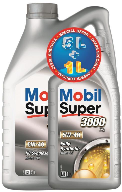 Huile moteur mobil super 3000 5w40 5+1 litres 151474 - mobil