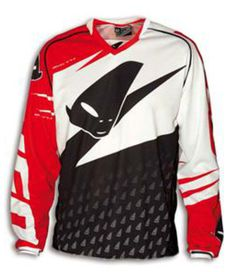 Maillot ufo misty rouge/blanc taille xl