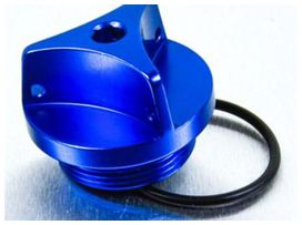 Bouchon d'huile pro-bolt alu bleu kawasaki z1000/zx10r