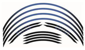 Kit liseré de jante bihr bleu/noir ruban - BIHR