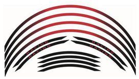Kit liseré de jantes bihr rouge/noir ruban - BIHR
