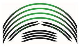 Kit liseré de jante bihr vert/noir ruban - BIHR