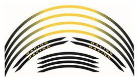 Kit liseré de jante bihr jaune/noir ruban - BIHR