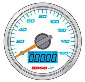 Compteur de vitesse koso d48 fond noir gp style - KOSO