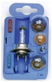 Coffret ampoules homologuees 12v. h7 - CAR+