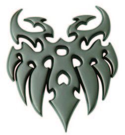 Embleme gun metal tatoo - race sport