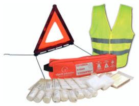 Kit complet gilet triangle et trousse de secours - OBJECTIF PREVENTION