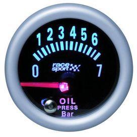 Manom de pression huile mirror look 52 mm 12v - race sport