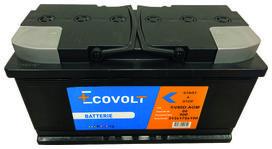 Batterie start&stop en technologie agm (80ah/800amp) - SOLIDPARTS