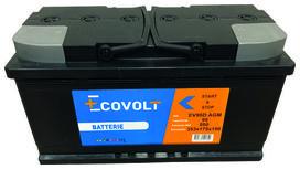 Batterie start&stop en technologie agm (95ah/850amp) - SOLIDPARTS