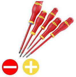 5 tournevis  isolés 1000 volts (coffret) - FACOM