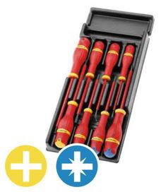 8 tournevis isolés 1000 volts (coffret) - FACOM
