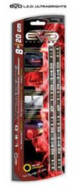 Bande led ultrabright rouge 20cm (2 pces) - EVOPERFORMANCE