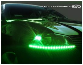 Bande led ultrabright vert 30cm (2 pces) - EVOPERFORMANCE