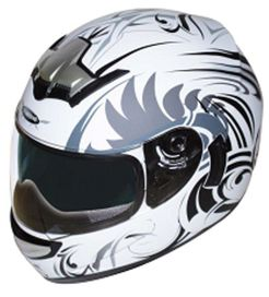 Casque integral akantus 2 visieres solaire integree blanc taille m