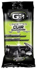 Lingettes entretien cuir (20 unités)
