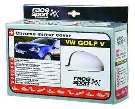 Jeu de couvre retroviseurs chromes vw golf v - race sport