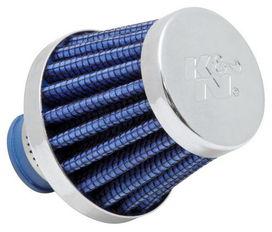 Filtre reniflard universel k&n bleu et chrome - K&N