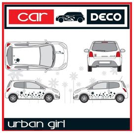 Kit complet adhesifs exterieur urban girl rouge - cardeco