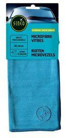 Lingette microfibre vitres bleu - sinéo