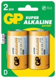 Lr20b blister de 2 piles alcaline 1.5v - GPBATTERIES