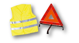 Pack securite luxe 1 triangles 1 gilet - difaxa