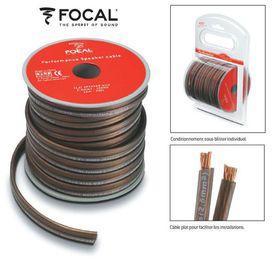 Cable haut parleur ps25 focal  serie performance plat - FOCAL