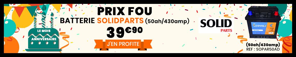 Batteries Solidparts au meilleur prix 39€99 (50ah/430amp)