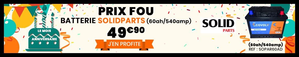 Batteries Solidparts au meilleur prix 49€99 (60ah/540amp)