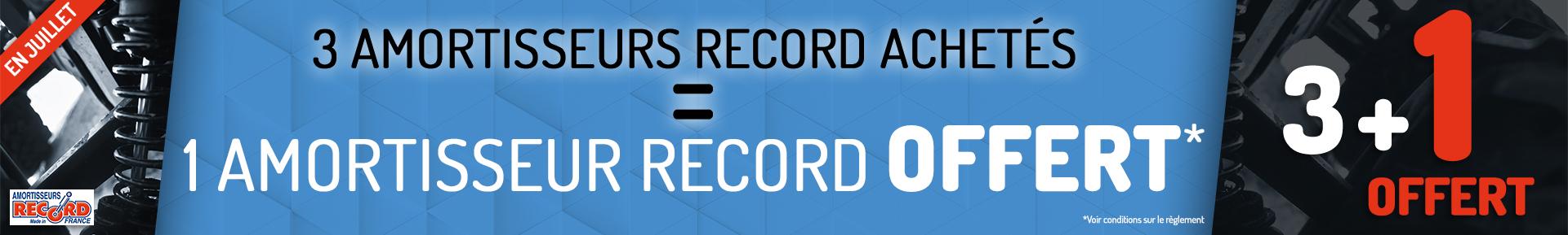 3 amortisseurs Record achetés = 1 amortisseur Record offert