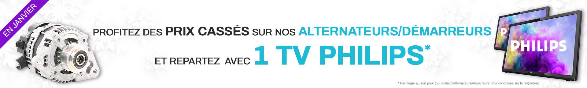 Prix cassés sur les alter/dem et en plus repartez avec une TV Philips *