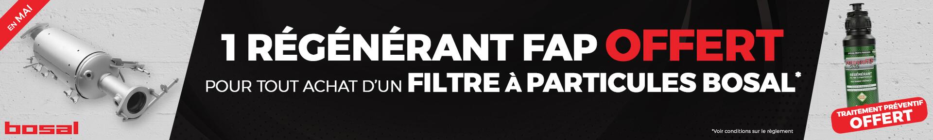 Pour tout achat d'un filtre à particules BOSAL, un régénérant FAP OFFERT *