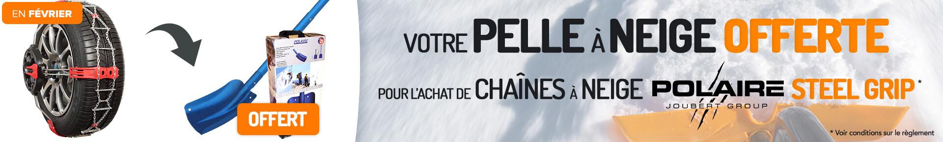 Votre pelle à neige offerte pour l'achat de chaînes à neige POLAIRE STELL GRIP *