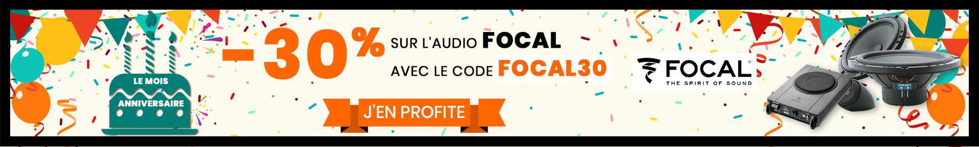 30% d'économies sur la marque Focal avec FOCAL30